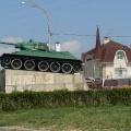 Отдых в Тамани. На улицах станицы Тамань. Памятник защитникам Тамани «Танк Т-34»
