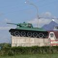 Отдых в Тамани. Достопримечательности станицы Тамань. Памятник Танк Т-34